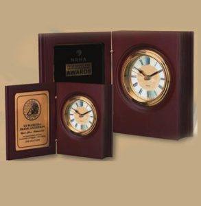"Rosewood ""Book"" Clock"