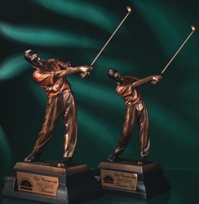 Bronze Resin Golfer