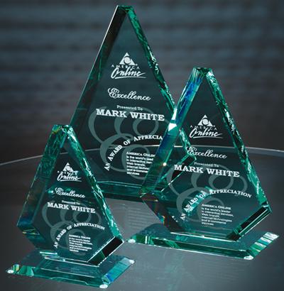 American Diamond Jade Crystal Award
