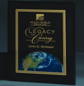 Ebony Piano Wood Plaque with World Motif