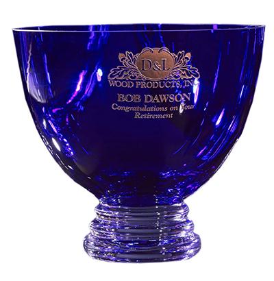 Cobalt Crystal Blue Bowl