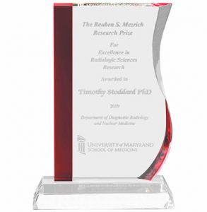 Red Stripe Wave Clear Crystal Award