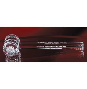 Clear Crystal Gavel